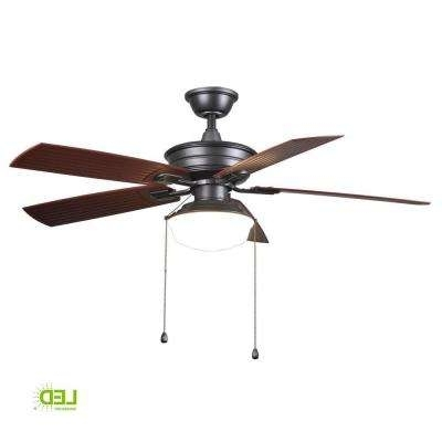 Black – Globes – Ceiling Fans – Lighting – The Home Depot Inside Most Recently Released Outdoor Ceiling Fans With Light Globes (View 4 of 15)