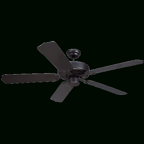 "Black Outdoor Ceiling Fans Pertaining To Famous 52"" Weatherford Outdoor Ceiling Fan (View 4 of 15)"