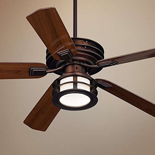 "Bronze Outdoor Ceiling Fans With Light Throughout Famous 52"" Casa Vieja Mission Ii Bronze Outdoor Ceiling Fan – Hunter (View 5 of 15)"