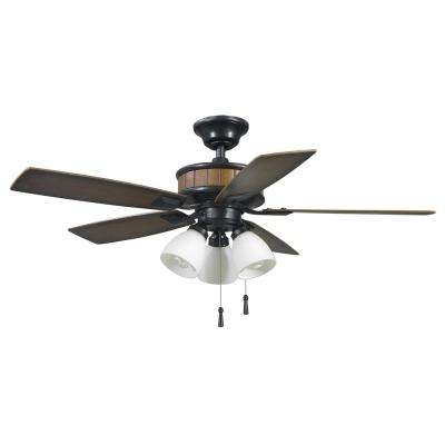 Brown Outdoor Ceiling Fan With Light For 2017 Hampton Bay – Brown – Outdoor – Ceiling Fans With Lights – Ceiling (View 3 of 15)