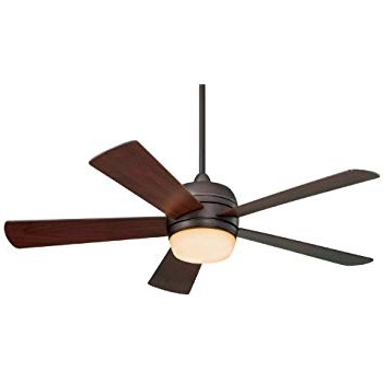 Brown Outdoor Ceiling Fan With Light In Newest Emerson Ceiling Fans Cf930Orb Atomical 52 Inch Modern Indoor Outdoor (View 4 of 15)