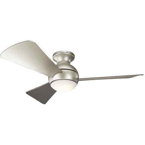 "Brushed Nickel Outdoor Ceiling Fans With Light Throughout Fashionable Kichler 330151Ni Sola 44"" Outdoor Ceiling Fan With Light In Brushed (View 5 of 15)"