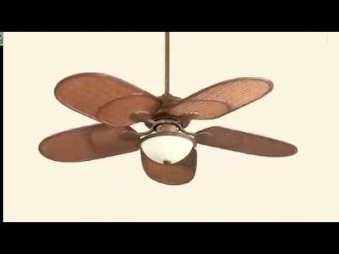 "Casa Vieja Outdoor Ceiling Fans Intended For Best And Newest 52"" Casa Vieja Rattan Outdoor Tropical Ceiling Fan – Youtube (View 3 of 15)"
