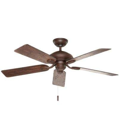 Casablanca – Brown – Ceiling Fans – Lighting – The Home Depot Intended For Most Recent Casablanca Outdoor Ceiling Fans With Lights (View 5 of 15)