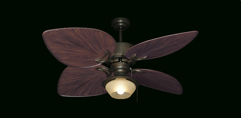 Ceiling: Amazing Palm Ceiling Fan Beach Ceiling Fans, Ceiling Fans Regarding Current Outdoor Ceiling Fans With Leaf Blades (View 5 of 15)