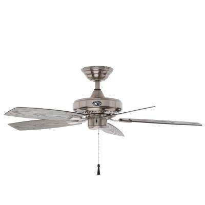 Coastal – Nickel – Outdoor – Ceiling Fans – Lighting – The Home Depot With Well Known Brushed Nickel Outdoor Ceiling Fans With Light (View 6 of 15)
