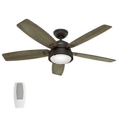 Current Outdoor Ceiling Fans With Lights Damp Rated Throughout Damp Rated – Outdoor – Ceiling Fans – Lighting – The Home Depot (View 1 of 15)
