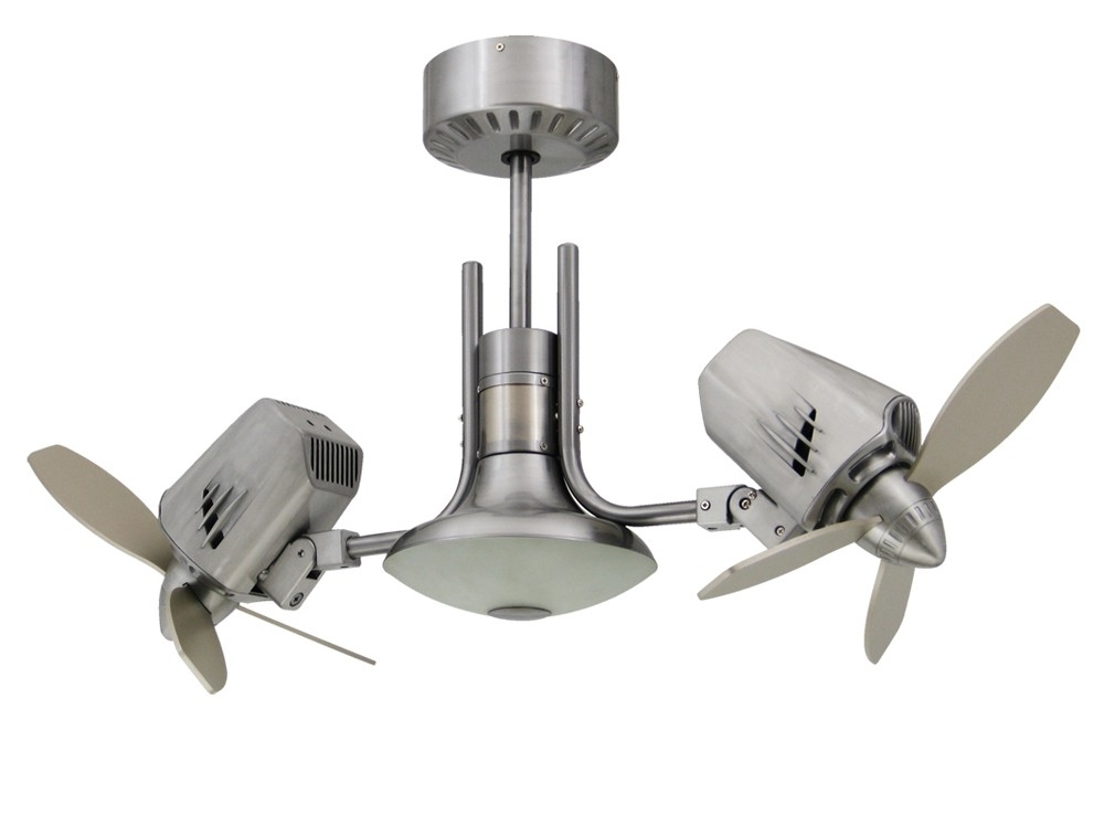 Current Outdoor Double Oscillating Ceiling Fans In Mustang Ii Double Oscillating Ceiling Fan (View 2 of 15)
