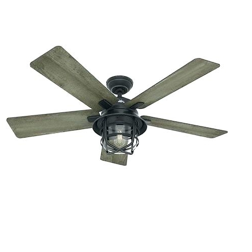 Damp Rated Outdoor Ceiling Fans For Preferred Top Rated Ceiling Fans Best Rated Ceiling Fan Hunter Fan Inch (View 1 of 15)