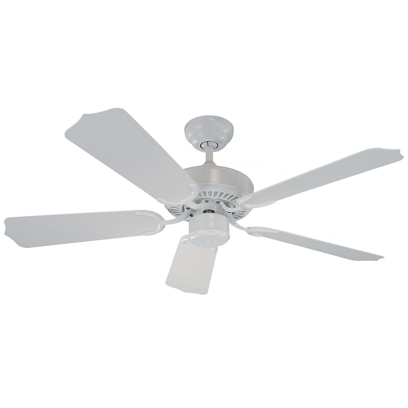 "Darby Home Co 42"" Huertas 5 Blade Outdoor Ceiling Fan & Reviews For Most Recent Outdoor Ceiling Fans With Metal Blades (View 12 of 15)"