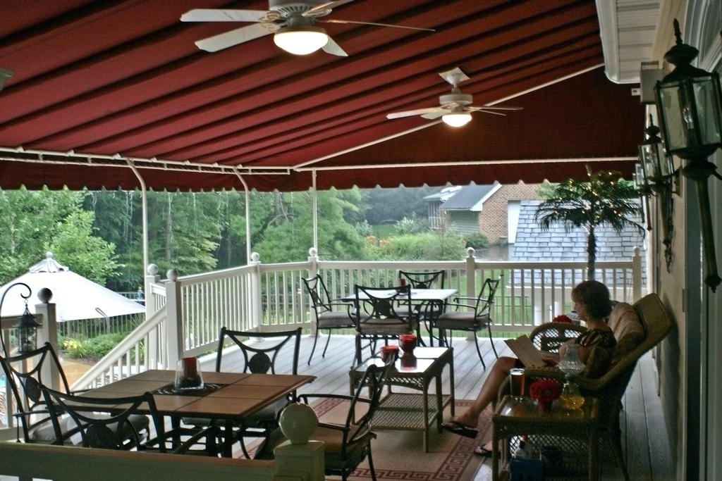 Deck Shade Cover Deck Canopy Ideas Awning Ideas Extraordinary Door Regarding Most Popular Outdoor Ceiling Fans For Canopy (View 15 of 15)