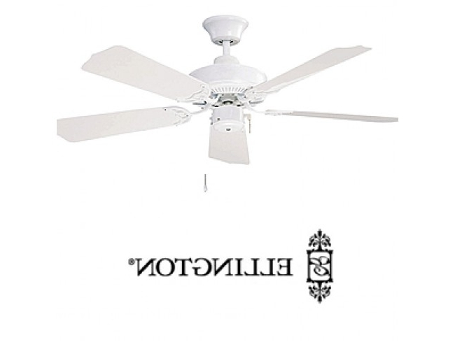 "Ellington All Weather 42"" Outdoor Ceiling Fan – White Inside Trendy Ellington Outdoor Ceiling Fans (View 14 of 15)"