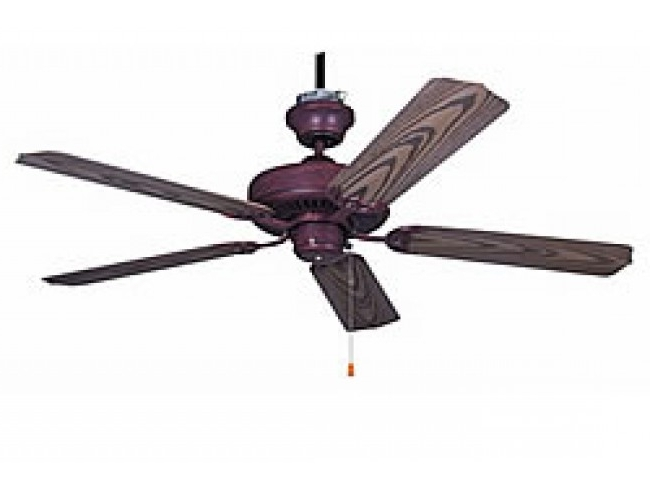 "Ellington Outdoor Ceiling Fans Inside Most Current Ellington All Weather 52"" Outdoor Ceiling Fan – Copperstone (View 5 of 15)"