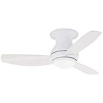 Emerson Ceiling Fans Cf144ww, Curva Sky, Modern Low Profile Hugger For Most Popular 44 Inch Outdoor Ceiling Fans With Lights (View 12 of 15)