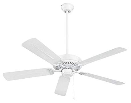 Energy Star Outdoor Ceiling Fans With Light Within Fashionable Nutone Cfo52wh Energy Star Qualified Dual Blades Outdoor Ceiling Fan (Gallery 4 of 15)