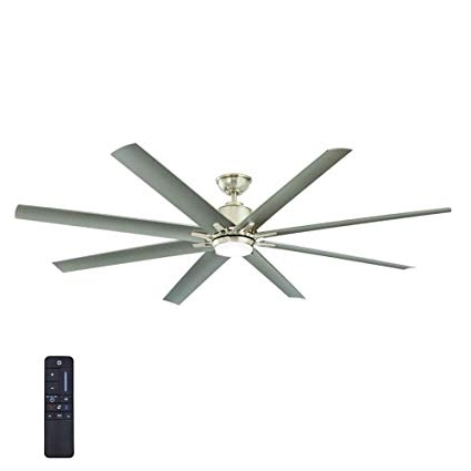 Famous Brushed Nickel Outdoor Ceiling Fans With Light With Regard To Amazon: Home Decorators Collection Kensgrove 72 In (View 7 of 15)