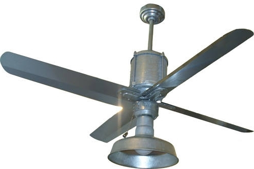 Famous Galvanized Outdoor Ceiling Fans With Light In Collection In Metal Outdoor Ceiling Fans And Galvanized Metal (View 4 of 15)