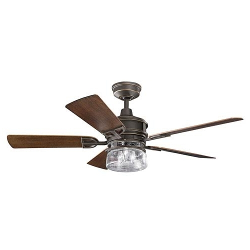 Famous Kichler Outdoor Ceiling Fans With Lights Inside Kichler Lyndon Patio Olde Bronze 52 Inch Outdoor Ceiling Fan With (View 3 of 15)