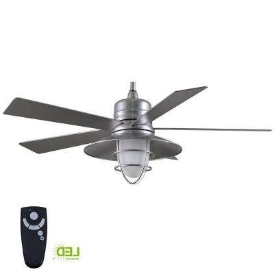 Famous Outdoor Ceiling Fan With Brake Pertaining To Wet Rated – Ceiling Fans – Lighting – The Home Depot (View 5 of 15)
