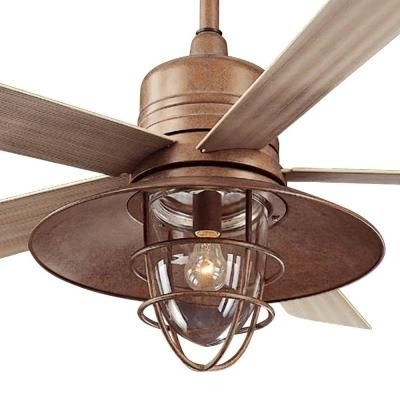 Famous Rustic Outdoor Ceiling Fans With Lights With Regard To Hampton Bay Metro 54 In (View 15 of 15)