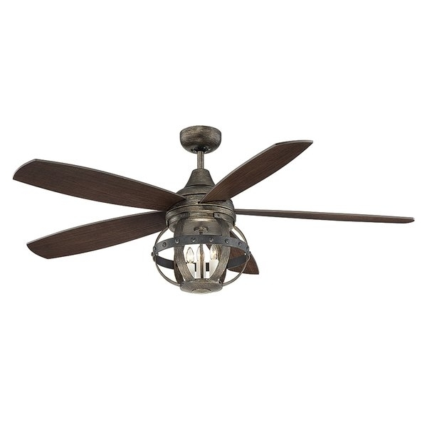 Famous Wayfair Outdoor Ceiling Fans With Lights Throughout Edison Light Ceiling Fan (View 1 of 15)