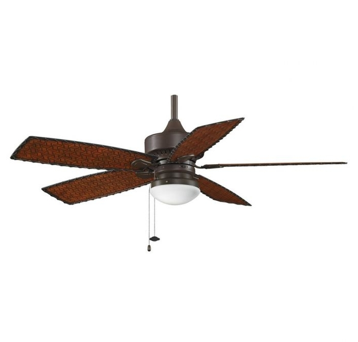 """Fanimation 52"""" Cancun Outdoor Ceiling Fan In Bronze W/woven Bamboo For Most Up To Date Outdoor Ceiling Fans With Bamboo Blades (View 4 of 15)"""