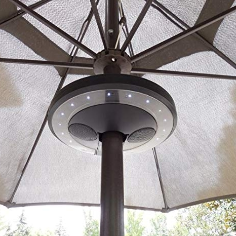 Fashionable Amazon : Patio Umbrella Bluetooth Speaker With Led Lights For Outdoor Ceiling Fan With Bluetooth Speaker (View 8 of 15)