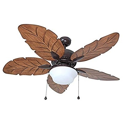 Fashionable Harbor Breeze Outdoor Ceiling Fans Inside Harbor Breeze Waveport 52 In Bronze Outdoor Downrod Mount Ceiling (View 8 of 15)