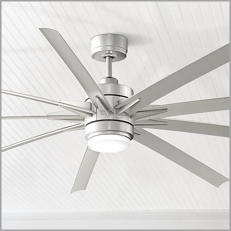 Fashionable High Output Outdoor Ceiling Fans With High Output Outdoor Ceiling Fans » Purchase 84 Odyn Brushed Nickel (View 2 of 15)