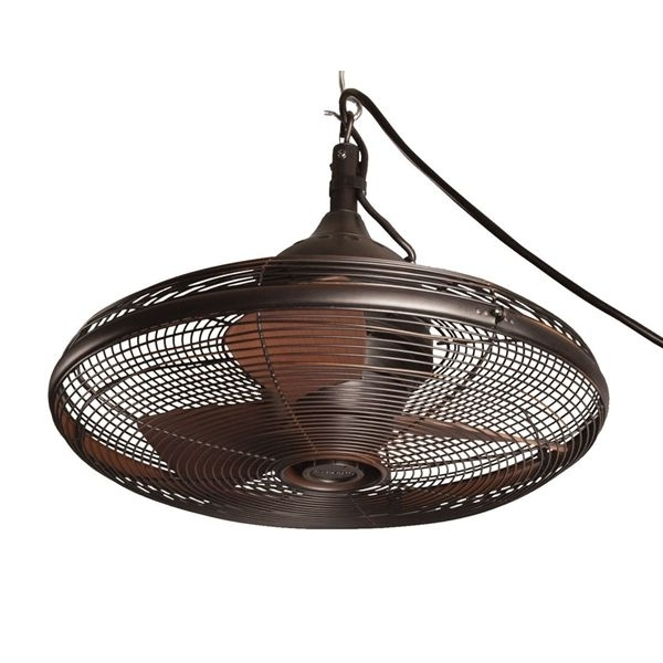 Fashionable Portable Outdoor Ceiling Fans For Shop Allen + Roth Valdosta 20 In Oil Rubbed Bronze Downrod Mount (View 3 of 15)
