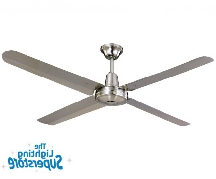 "Fashionable Stainless Steel Outdoor Ceiling Fans With Light Regarding 52"" Typhoon 316 Stainless Steel – Outdoor Ceiling Fans (View 13 of 15)"