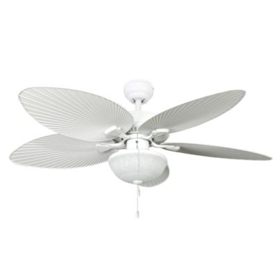 Featured Photo of White Outdoor Ceiling Fans With Lights