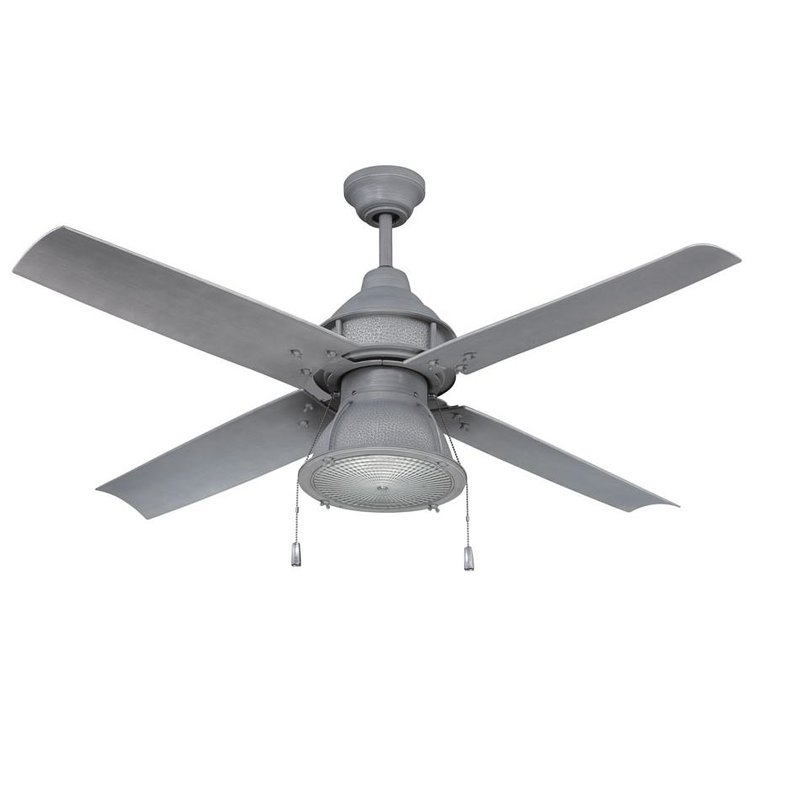 "Favorite 17 Stories 52"" Martika 4 Blade Outdoor Led Ceiling Fan & Reviews In Grey Outdoor Ceiling Fans (View 2 of 15)"