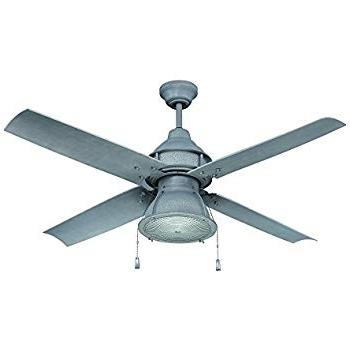 Favorite Craftmade Outdoor Ceiling Fan With Cfl Light Par52Agv4 Port Arbor 4 Pertaining To Galvanized Outdoor Ceiling Fans (View 4 of 15)