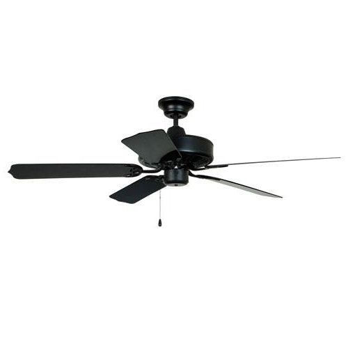 Favorite Ellington Outdoor Ceiling Fans Inside Craftmade Enduro Matte Black 52 Inch Blade Span Outdoor Ceiling Fan (View 6 of 15)