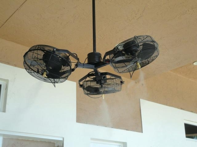 Favorite Outdoor Ceiling Fans With Misters With Regard To Misting Ceiling Fan Large Outdoor Fan Outdoor Standing Fans Large (View 3 of 15)