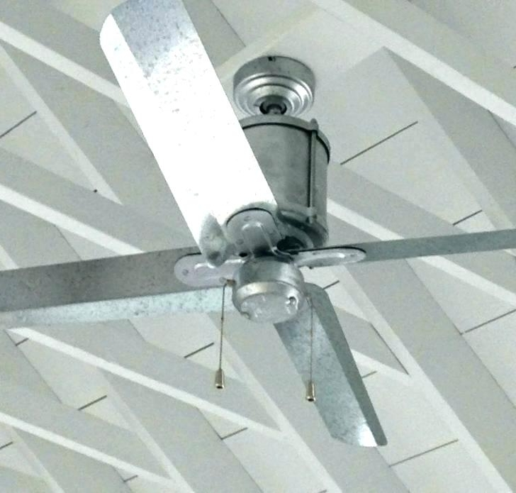 Galvanized Outdoor Ceiling Fans With Light Intended For Famous Galvanized Outdoor Ceiling Fan Outdoor Metal Ceiling Fans Deacon (View 10 of 15)
