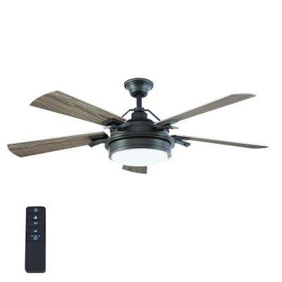 Gray – Rustic – Downrod Mount – Ceiling Fans – Lighting – The Home Depot With Fashionable Outdoor Ceiling Fans With Downrod (View 13 of 15)