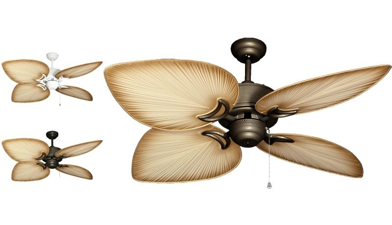 """Gulf Coast – Bombay Tropical Outdoor Ceiling Fan – 52"""" Sweep Tan Pertaining To Preferred Tropical Design Outdoor Ceiling Fans (View 2 of 15)"""