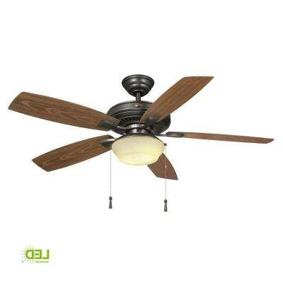 Hampton Bay – Ceiling Fans – Lighting – The Home Depot Regarding Trendy Hampton Bay Outdoor Ceiling Fans With Lights (Gallery 1 of 15)