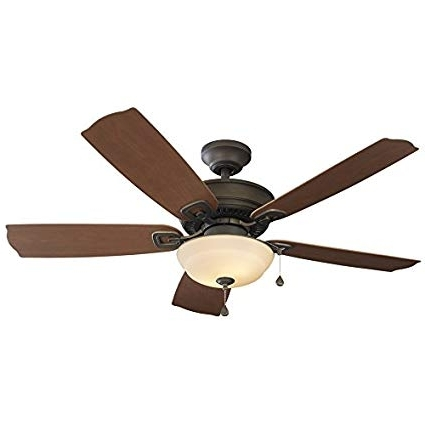Harbor Breeze Echolake 52 In Bronze Downrod Or Close Mount Indoor With Favorite Outdoor Ceiling Fans With Downrod (View 15 of 15)
