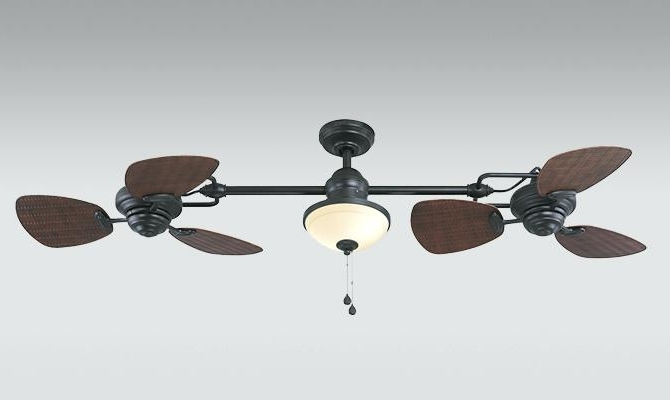 Harbor Breeze Outdoor Ceiling Fans Within Fashionable Harbor Breeze Outdoor Ceiling Fan The Twin Ii Inch Oil Rubbed Bronze (Gallery 9 of 15)