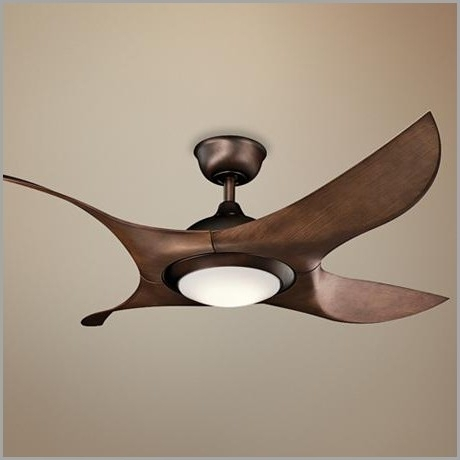 High Output Outdoor Ceiling Fans Within Newest High Output Outdoor Ceiling Fans » Fresh 52 Kichler Shuriken Led Oil (View 11 of 15)