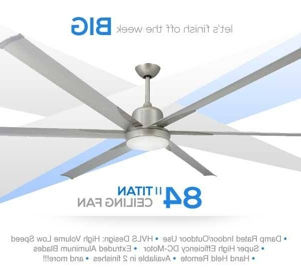 High Volume Outdoor Ceiling Fans Intended For Current Clean Contemporary Design Large Industrial Ceiling Fan With High (Gallery 11 of 15)