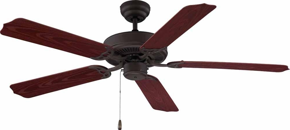High Volume Outdoor Ceiling Fans Within Best And Newest Antique Bronze Outdoor Ceiling Fan : V5953 (View 8 of 15)