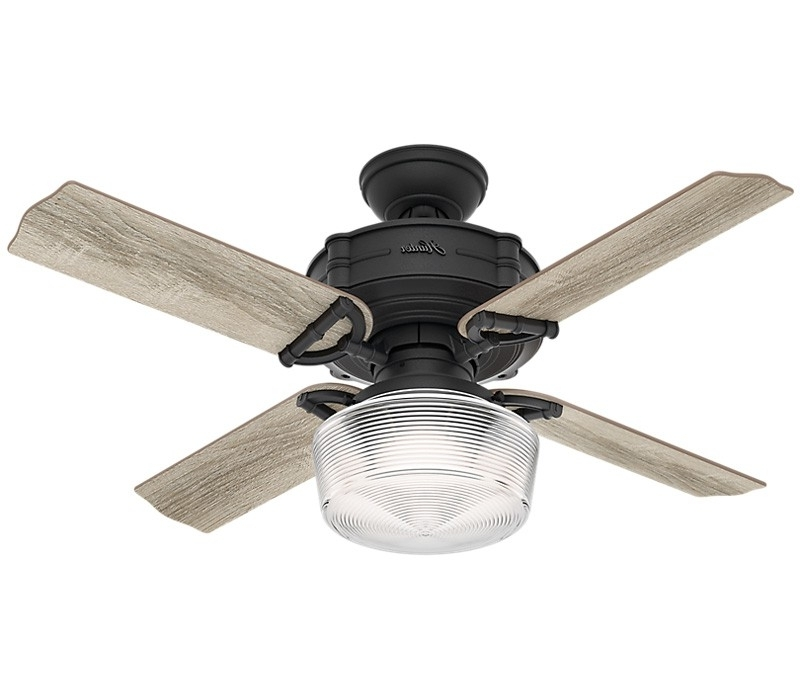 Hunter 52261 Brunswick 44 Inch Natural Iron Ceiling Fan With Led Light Pertaining To 2017 Outdoor Ceiling Fans With Removable Blades (View 4 of 15)