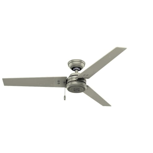 "Hunter 59263 52"" 3 Blade Outdoor Ceiling Fan With Pull Chain Regarding Trendy Outdoor Ceiling Fans With Pull Chains (Gallery 1 of 15)"