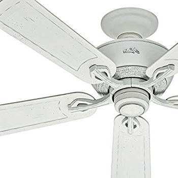 Hunter Fan 52 Inch Outdoor Ceiling Fan In Cottage White With Rust Throughout Preferred Rust Proof Outdoor Ceiling Fans (Gallery 11 of 15)