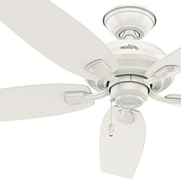 "Hunter Fan 52"" Indoor/outdoor Ceiling Fan In Fresh White, 5 Blade Regarding Latest Rust Proof Outdoor Ceiling Fans (View 14 of 15)"