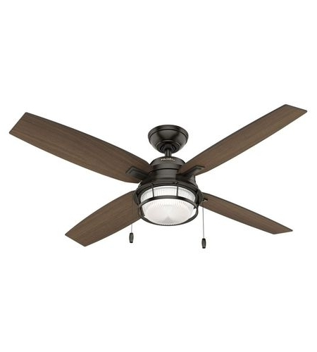 Hunter Fan 59214 Ocala 52 Inch Noble Bronze With Roasted Maple Intended For 2017 Outdoor Ceiling Fans By Hunter (View 5 of 15)
